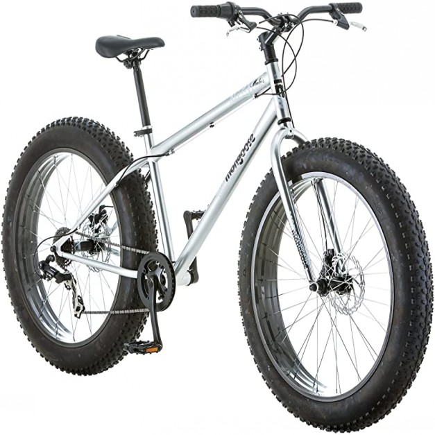 Malus Fat Tire Bike with 26-Inch Wheels Steel Frame 7-Speed Shimano Drivetrain and Mechanical Disc Brakes